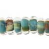 Lamp Bead Donut 50pc 9mm Sienna Jade
